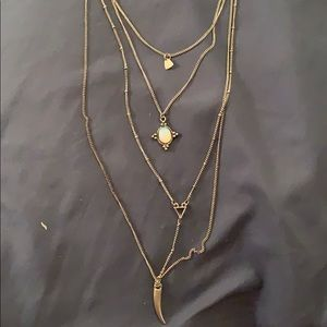 American Eagle three layer necklace